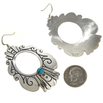 Navajo Turquoise Earrings French Hooks 30065
