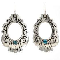 Kingman Turquoise Silver Earrings 30065