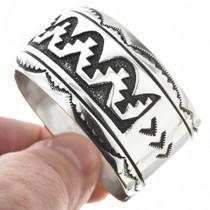 Native American Silver Overlay Bracelet 30080