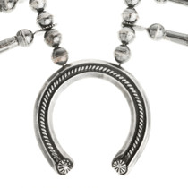 Silver Navajo Necklace with Desert Pearls 30122