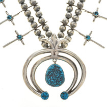 Natural Kingman Turquoise Nugget Necklace 30128