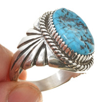 Turquoise Nugget Silver Ring 30134