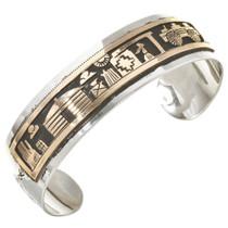 Gold Silver Navajo Storyteller Bracelet 30145
