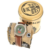 American Indian Themed Leather Band Watch 90992