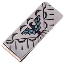 Navajo Thunderbird Turquoise Money Clip 22843