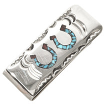 Turquoise Horseshoes Money Clip 30165