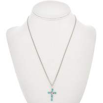 Silver Turquoise Cross Pendant 31074