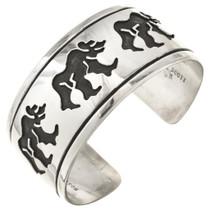 Sterling Silver Navajo Bear Bracelet 30176
