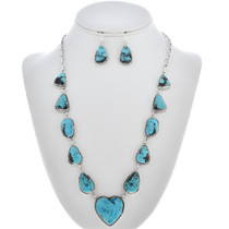 Turquoise Y Necklace Set -30193