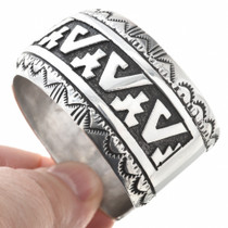 Native American Sterling Cuff Bracelet 30207