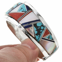 Turquoise Sterling Silver Inlay Bracelet 30305
