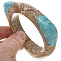 Turquoise Jasper Southwest Bangle Triangular Bracelet 30343