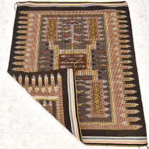 Coal Mine Mesa Storm Pattern Wool Rug 30350