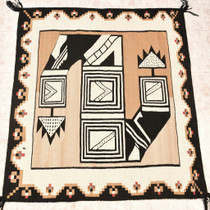 Rare Navajo Plumed Serpent Rug 30353