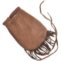 Leather Indian Medicine Bag With Fringe and Strap 30374