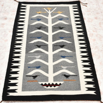 Vintage Navajo Pictorial Rug Tree of Life 30393