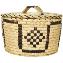 Vintage Papago Indian Basket With Lid 30410