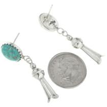 Native American Post Dangle Squash Blossom Earrings 30455