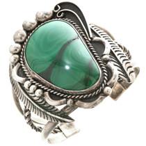 Old Pawn Malachite Silver Bracelet 30481
