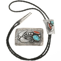 Old Pawn Navajo Turquoise Bolo Tie Belt Bucke Set 30497