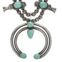 Sterling Silver Turquoise Necklace 30507
