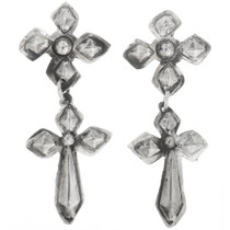 Sterling Silver Cross Earrings 30517