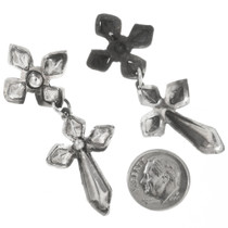Silver Cross Western Earrings 30517