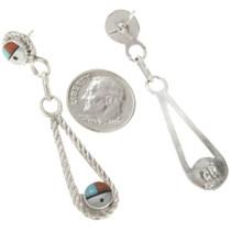 Hand Made Teardrop Silver Earrings 30519