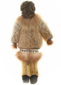 Alaskan Fur Doll Hand Carved Face 30568