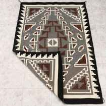 Large Two Grey Hills Navajo Rug 30613