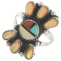 Old Pawn Zuni Sunface Ladies Ring 30619