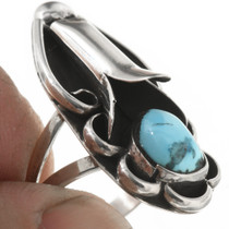 Vintage Native American Sterling Silver Turquoise Ring 30621