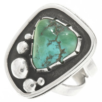 Vintage Turquoise Silver Navajo Ring 30627