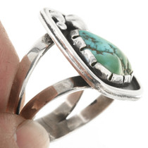 Old Pawn Natural Turquoise Silver Ring 30627