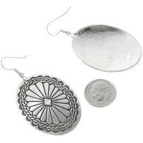 Navajo Stamped Silver French Hook Earrings 30636