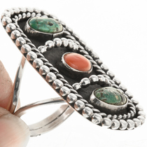 Sterling Silver Turquoise Navajo Indian Ring 30643