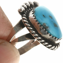 Navajo Made Blue Turquoise Ring 30644