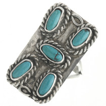 Vintage Turquoise Silver Ring 30656