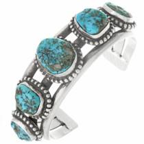 Vintage Kingman Turquoise Nugget Bracelet 30667