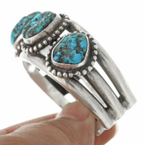 Turquoise Nugget Sterling Silver Bracelet 30667