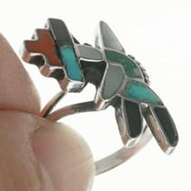 Zuni Inlay Turquoise Ring 30684