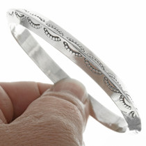 Navajo Made Sterling Silver Bangle Bracelet 30685