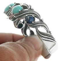 Turquoise Lapis Silver Cuff Ladies Bracelet 30689