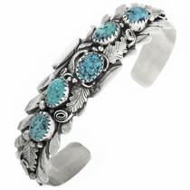 Vintage Turquoise Sterling Silver Ladies Bracelet 30709