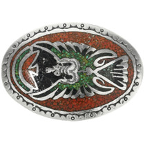 Old Pawn Peyote Bird Belt Buckle 30714