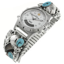 Old Pawn Turquoise Bear Claw Watch 30718