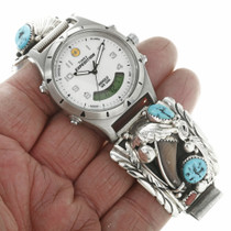 Sterling Silver Bear Claw Navajo Made Watch 30718