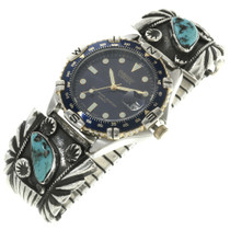 Navajo Made Turquoise Silver Watch 30724