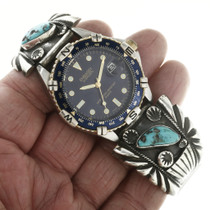 Sterling Silver Turquoise Watch 30724