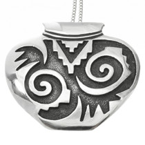 Vintage Overlaid Silver Pottery Pendant 30726